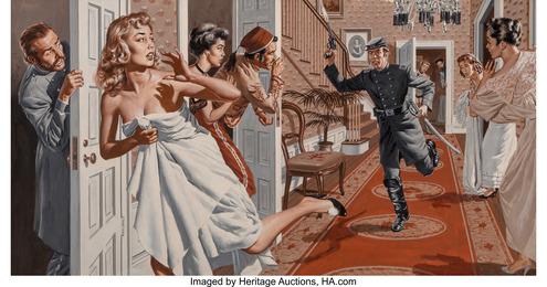 The Union Spy, Men's Adventure magazine interior illustration