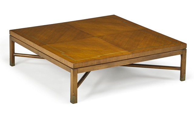 Tommi Parzinger, 'Tommi Parzinger Coffee Table', 1960s, Textile Arts, Large mahogany coffee table with pull-out tops and inlaid aluminum, New York, Rago/Wright