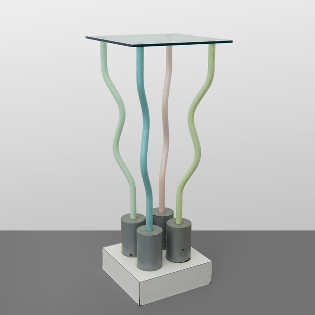 Ettore Sottsass, 'Le strutture tremano' ('The structures tremble')', Design/Decorative Art, Plastic laminate varnished steel and crystal top., Aste Boetto