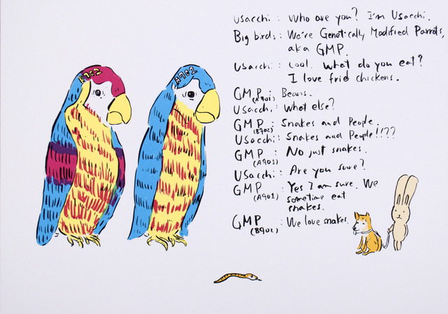 , '2 Genetically modified parrots,' 2012, Polígrafa Obra Gráfica