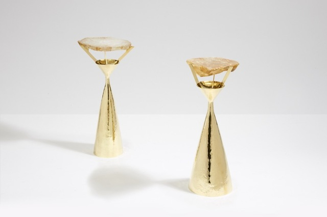 , 'False pair of crystal side tables,' , Galerie Yves Gastou