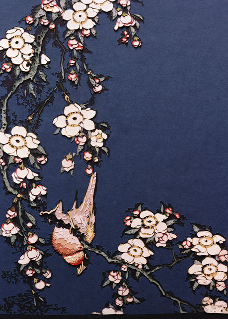 , 'Bullfinch and Weeping Cherry, from Small Flowers, after Hokusai,' 2010, galerie nichido / nca | nichido contemporary art