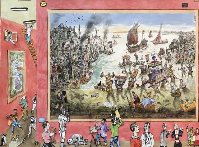 , 'Shield of Battersea - Julius Caesar Crossing the Thames AD56,' 2019, Jill George Gallery