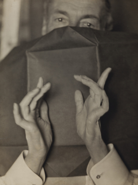 , 'Portrait of a Half-Hidden Man With Expressive Hands (Russell H. Greeley),' 1920-1930, Contemporary Works/Vintage Works