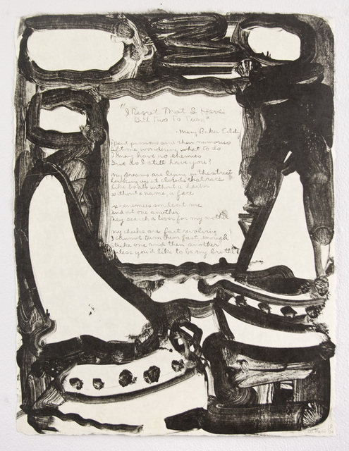 , 'I Regret That I Have But Two To Turn,' 1978, Tamarind Institute