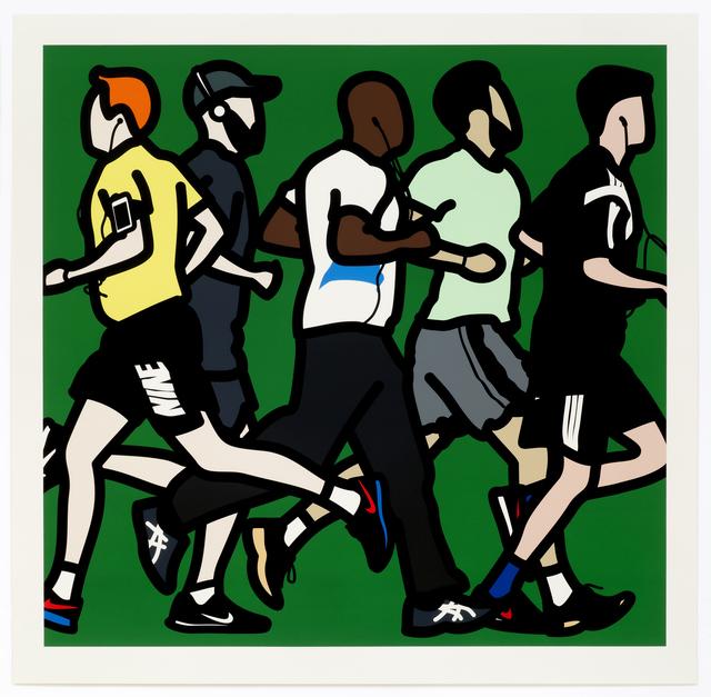 Julian Opie, 'Running Men', 2016, Gallery HAAS & GSCHWANDTNER