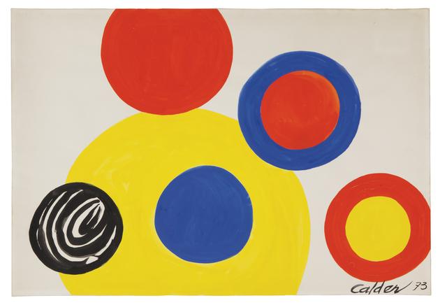 , '6 Cercles,' 1973, Omer Tiroche Gallery