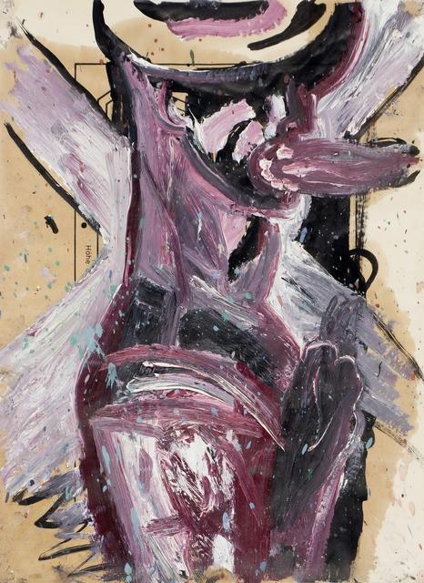 , 'Mann vor Scheinwerfer,' 1988, Galerie Tore Suessbier
