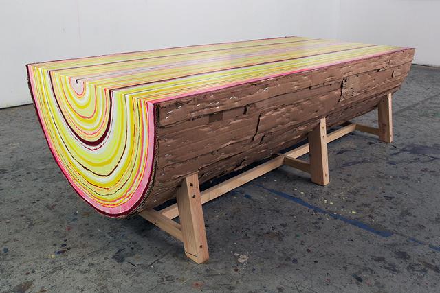 , 'Log Bench,' 2016, LMAKgallery