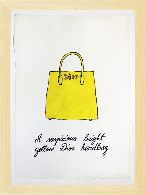 , 'Suspicious Bags, Bright yellow Dior handbag ,' 2018, Purdy Hicks Gallery