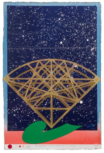 Lucio del Pezzo, 'Tycho paraphrasis & D. W. Teske celestial map', 1983, Cambi