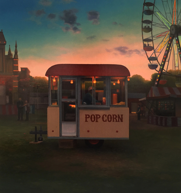 Scott Prior, 'Popcorn Stand at Twilight', 2017, William Baczek Fine Arts