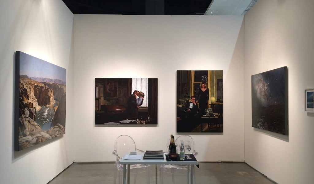 Fair Stand with John Meyer paintings.