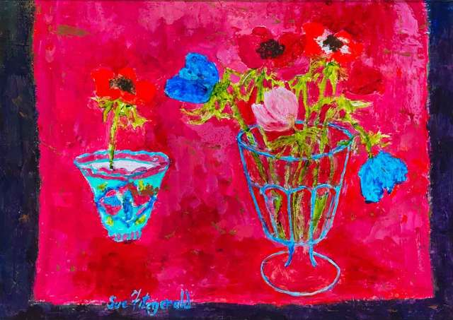 , 'Tea Bowl and Anemones,' 2018, Catto Gallery