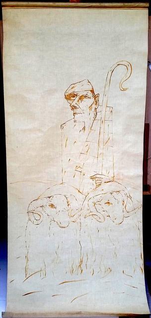John Bellany R.A., 'Blind Shepherd and Ettrick Shepherd', 1975, Robert Eagle Fine Art