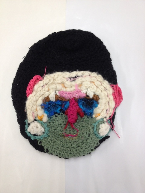 , 'Knit Mask,' 2014, Johannes Vogt Gallery