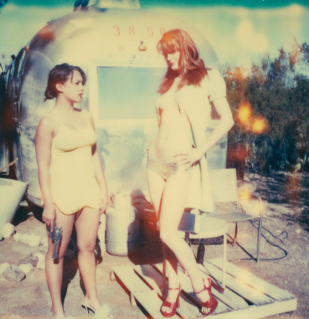 Stefanie Schneider, 'Daisy and Austen in front of Trailer (Till Death do us Part)', 2005, Photography, Digital C-Print based on a Polaroid, not mounted, Instantdreams