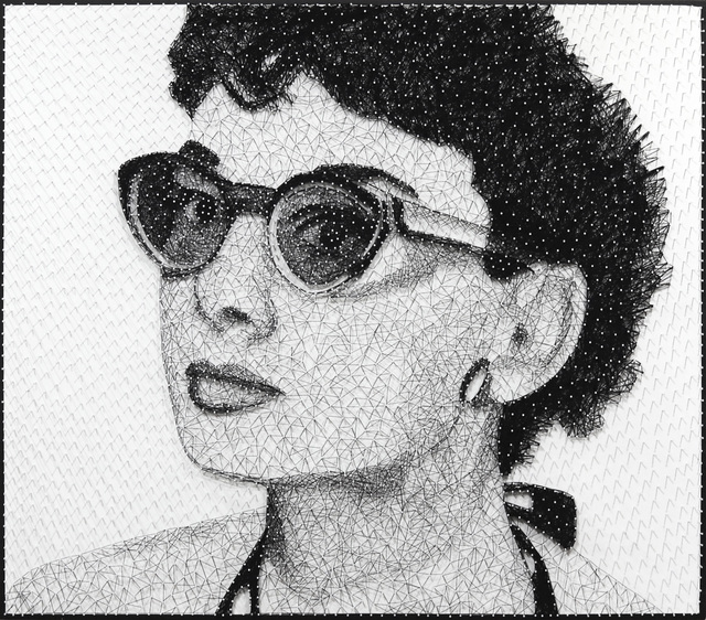 Ricky Hunt, 'Audrey In The Sun', 2020, Mixed Media, Nails and Thread on Wood, Artspace Warehouse