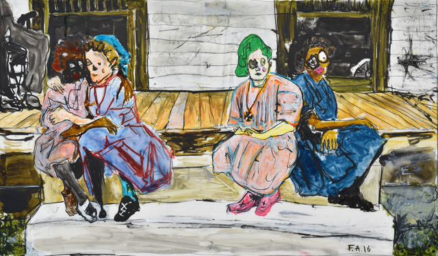 , '4 Girls on Porch,' 2016, Spinello Projects