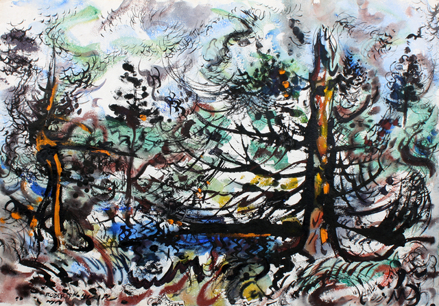 , 'Burning Trees,' ca. 1950, Benjaman Gallery Group