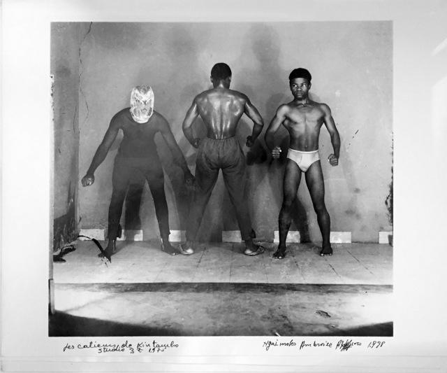 Ambroise Ngaimoko, 'Les catcheurs de Kintambo.', 1975, Magnin-A