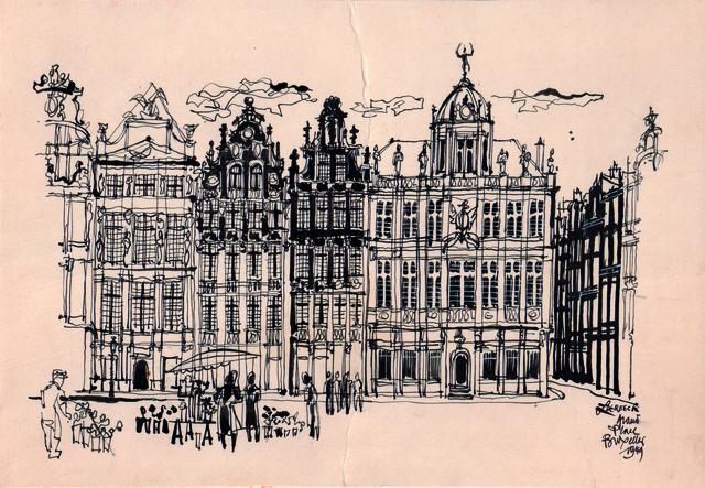 , 'Grand-place Bruxelles,' 1949, Musée d'Ixelles