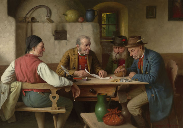 Josef Wagner-Hohenberg, 'The Final Bill', 20th century, Painting, Oil on canvas,  M.S. Rau