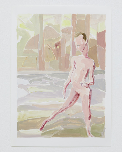 Hiro Kunikawa, 'Portraits of People in the Distance', 2017, Drawing, Collage or other Work on Paper, Acrylic on paper, Tomio Koyama Gallery
