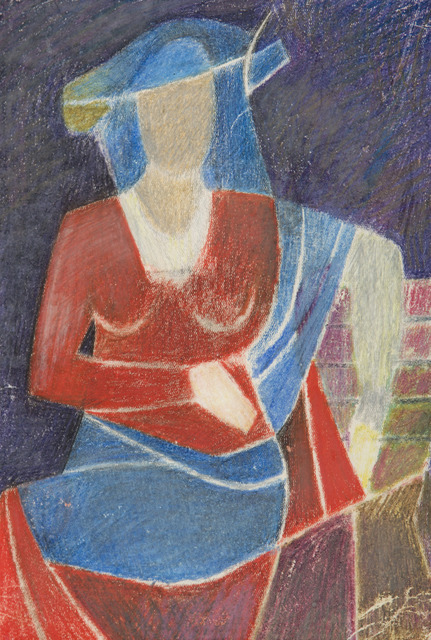 , 'Lady in a Blue Hat,' 1947, Childs Gallery