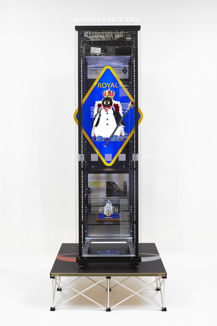 , 'Modded Server-Rack Display with Some Interpretations of Imagery from GCHQ ROYALCONCIERGE Slides,' 2015, Galerie Buchholz