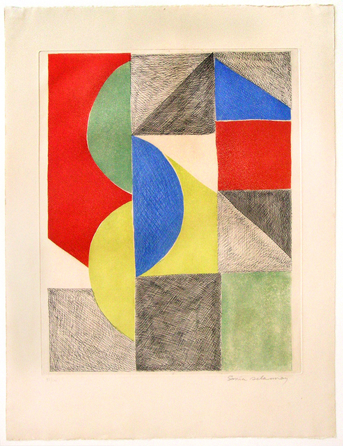 Sonia Delaunay, 'Composition with Semi-Circles and Triangles ', ca. 1970, Nikola Rukaj Gallery