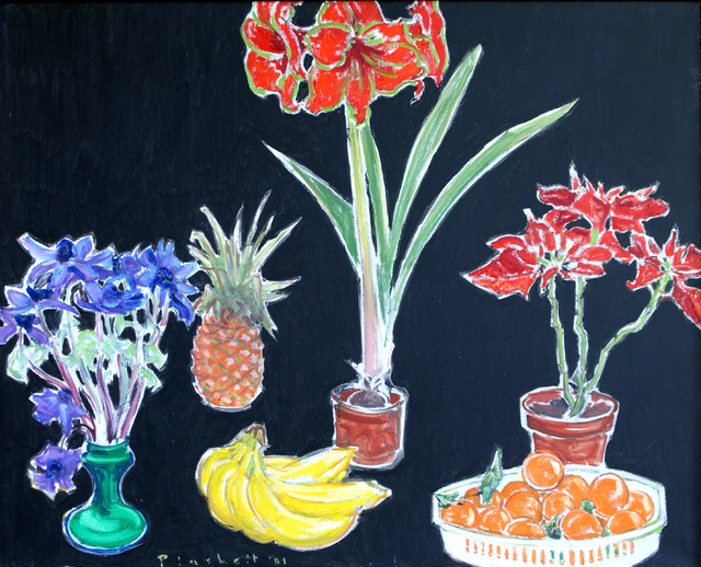, 'Anemeone, Amaryllis, Poinsettia (Black),' 2001, Winchester Galleries