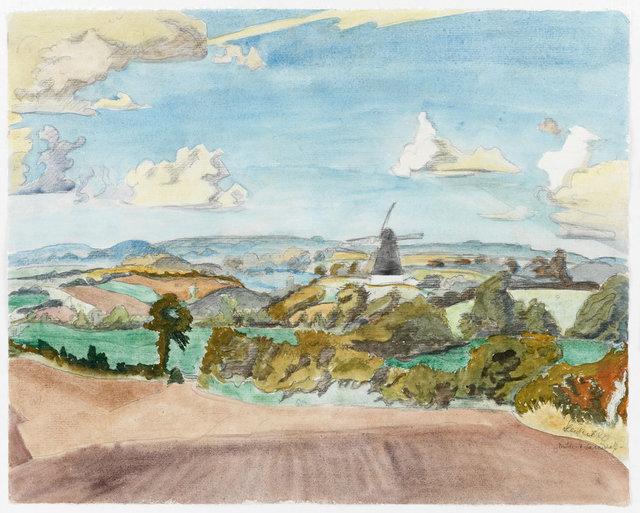 , 'Mühle in der Landschaft,' 1940, Ludorff