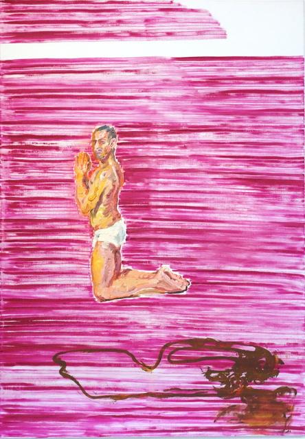 , 'Knieender Mann, vielleicht betend,' 2013, Flowers