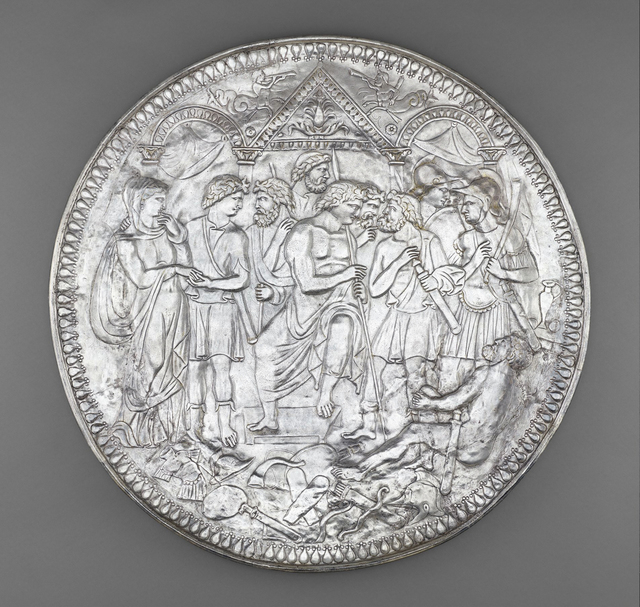 , 'Plate with the Embassy to Achilles,' ca. 375, Legion of Honor