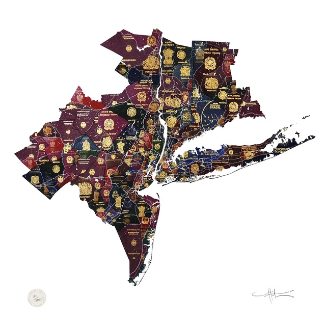 , 'New York Tri State Map,' 2016, TAG Fine Arts