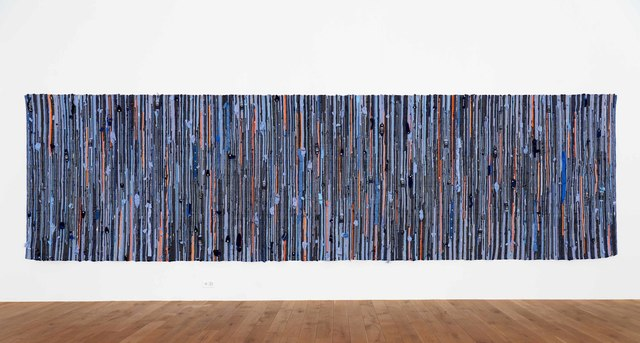 Michael Sailstorfer, 'Teppich Zürich 1 (Rug Zurich 1)', 2017, Mixed Media, Rug made of police uniforms, Grieder Contemporary