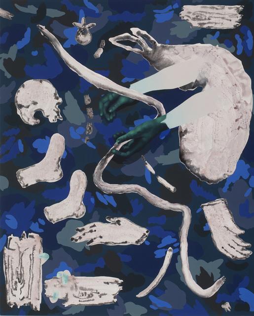 , 'Blue Camo,' 2016, Roman Fine Art
