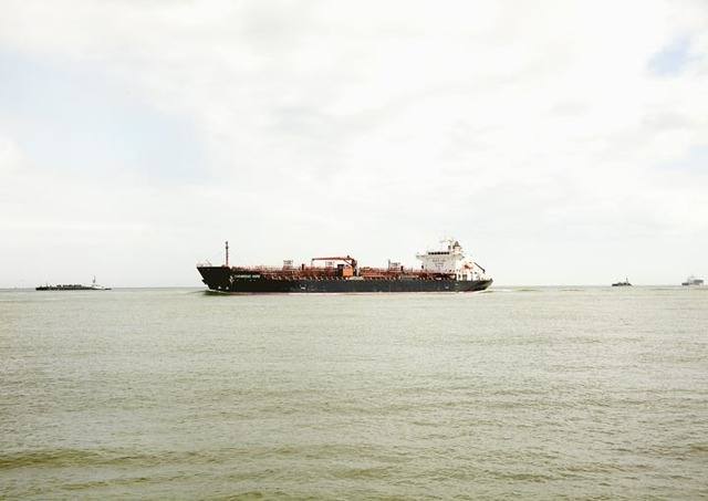 , 'Untitled (Oil Chemical Tanker, Chemroad Hope, Caymen Is.), Houston Ship Channel, Texas, 2016,' , Yancey Richardson Gallery