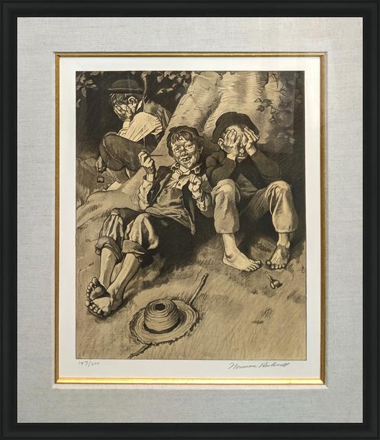 Norman Rockwell, 'SMOKING (SEPIA)', 1976, Gallery Art