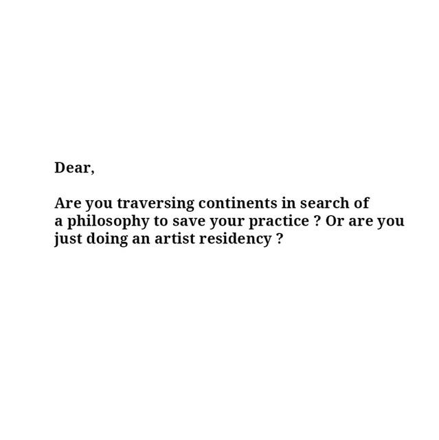 , 'Are You Traversing Continents,' , Sabrina Amrani
