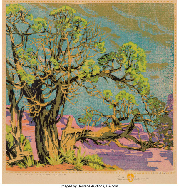 Gustave Baumann, 'Cedar - Grand Canyon', Heritage Auctions