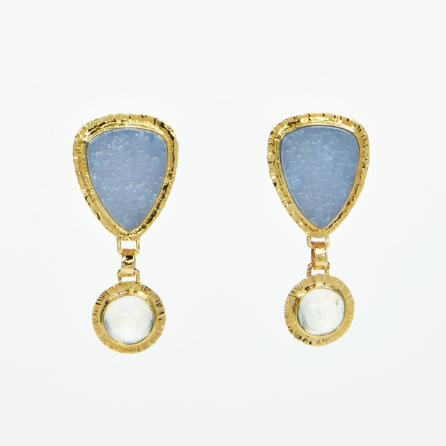 , 'Chalcedony & Moonstone Earrings,' 2017, Miller White Fine Arts