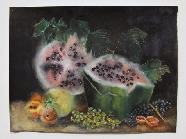, 'Watermelon Gothic 2,' 2015, Burning in Water