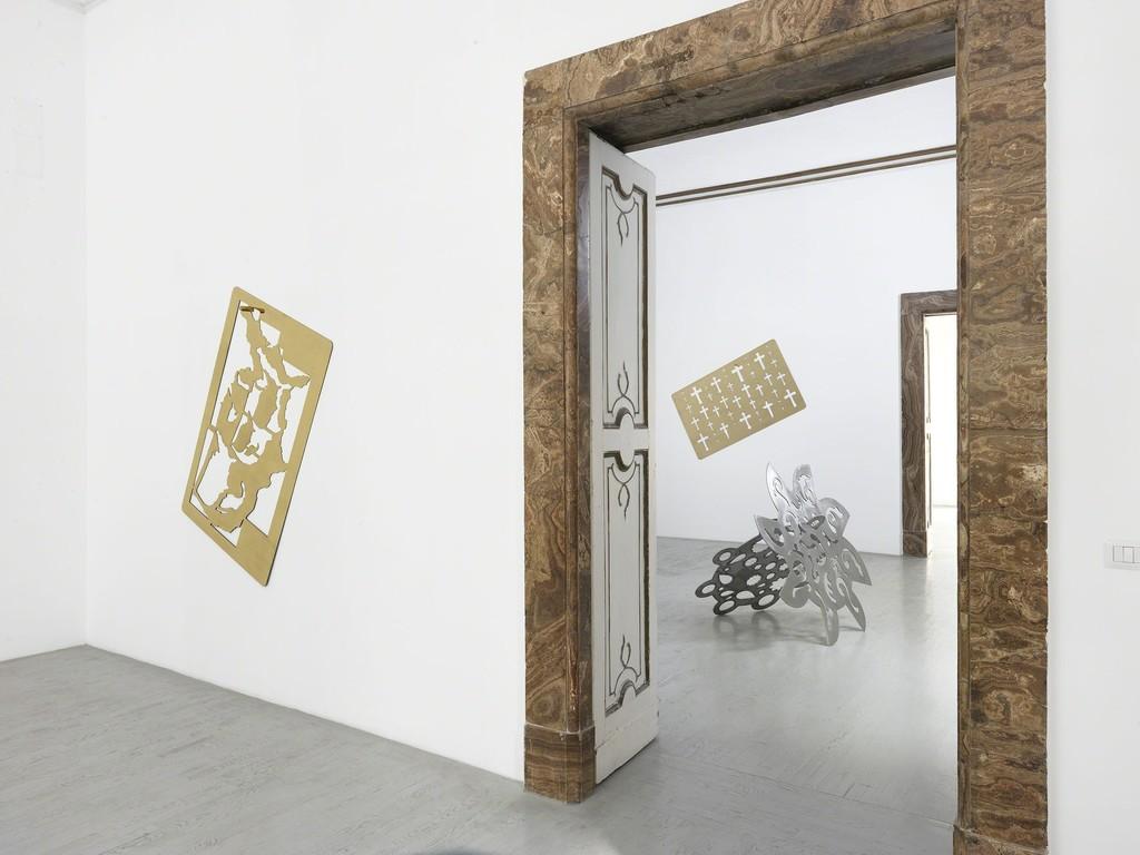 Rita Mcbride - pattern & decoration - partial view of the exhibition - September 2014 - Galleria Alfonso Artiaco, Napoli