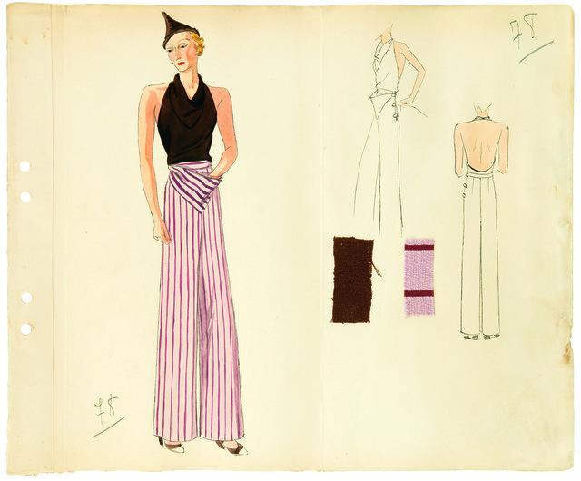 , 'Dessin modèle pantaloncorsage,' 1933, Les Arts Décoratifs