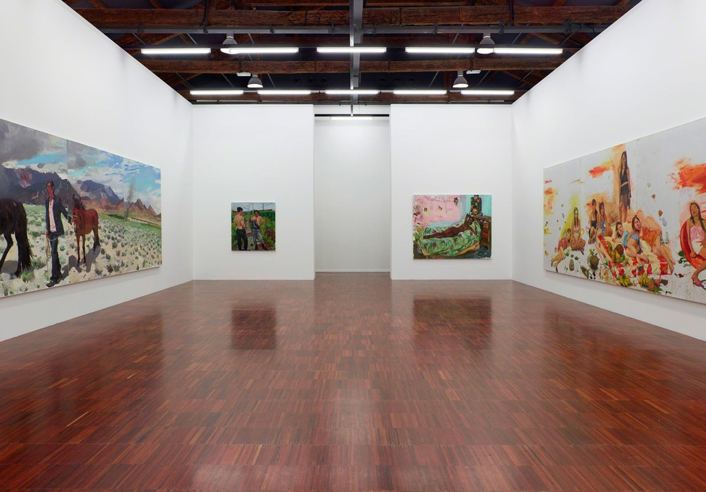Installation view of exhibition 'Liu Xiaodong: Painting as Shooting', curated by Jèrôme Sans, Faurschou Foundation in Venice, 2015. Photo by Anders Sune Berg, © Faurschou Foundation