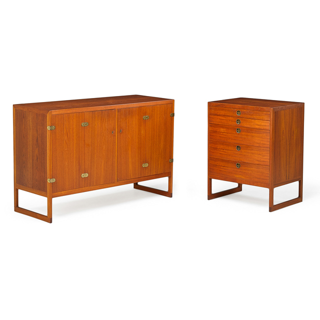 Börge Mogensen, 'Two Cabinets, Denmark', 1950s, Rago/Wright