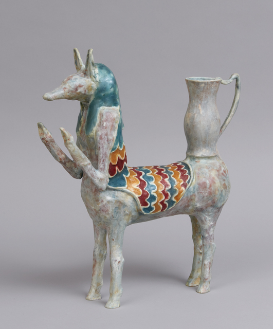 Shari Mendelson, 'Anubis as a Horse with a Coat', 2019, Sculpture, Repurposed plastic, hot glue, resin, acrylic polymer, mica, Jason Jacques Gallery