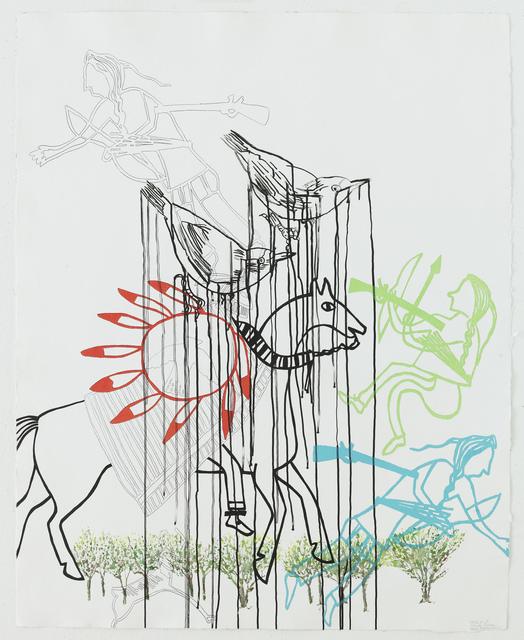 Ghada Amer & Reza Farkhondeh, 'Crazy Horse,' 2007, STPI